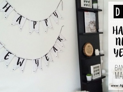 DIY Happy New Year banner maken