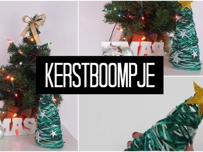 DIY kerstboompje - van wol en crea podge