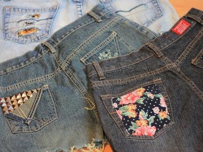 DIY Shorts | leopard print + flower print + studs