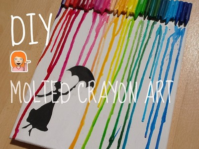 DIY Melted Crayon wall art.RedHeaDiy.
