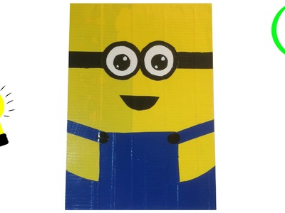 DIY crafts: Minion tekenblok of schrijfblok duck tape - back to school