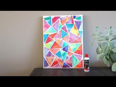 DIY mozaiek schilderij maken!