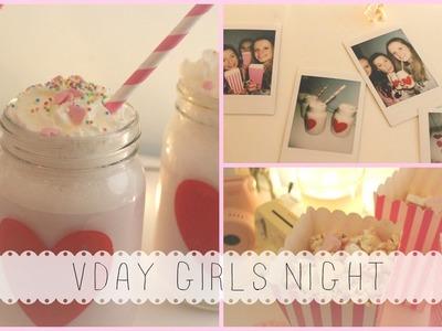 DIY Valentine's Day Girls Night & Snacks ♡