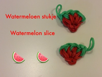 Rainbow Loom Nederlands | Watermeloen Stukje. Watermelon Slice