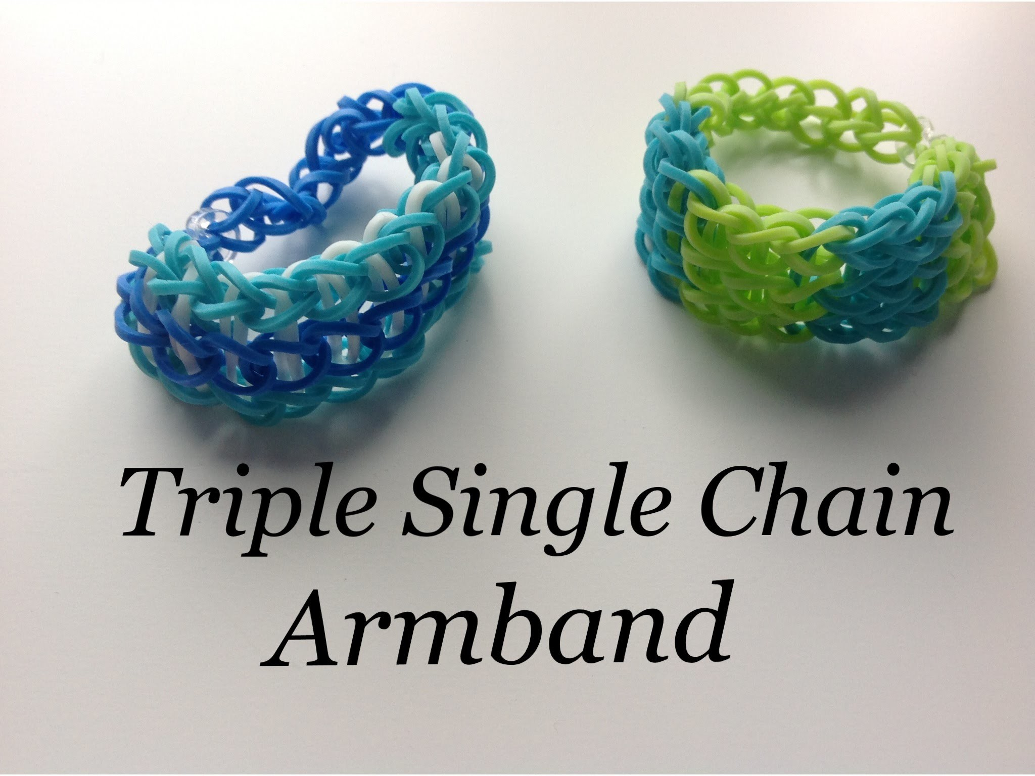 Rainbow Loom Nederlands: Triple single chain armband