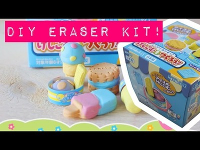 D.I.Y. Eraser Kit Icecream - Kutsuwa - MostCutest.nl gum maken