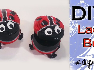 ★DAY 9 Recycled DIY Ladybug Lieveheersbeestje Kadodoos★DIYVEMBER★
