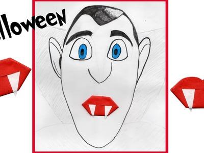 Fun: origami Halloween vampier tanden vouwen - vampire teeth