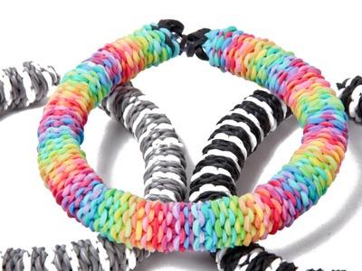 Inverted Hexafish - Rainbow Loom Nederlands Armband