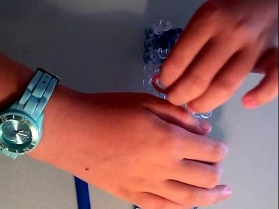 Rainbow loom aardbeien armbandje