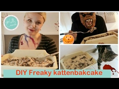 Freaky Kattenbakcake DIY | Party Snack |  Holy Halloween Collab | Kelly caresse