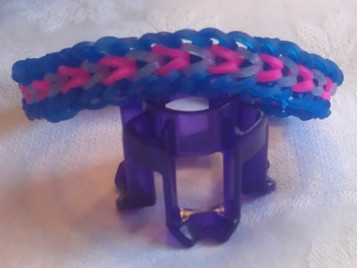 Rainbow loom Nederlands: ninjini armband op de fingerloom (original design)