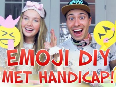 EMOJI DIY MET HANDICAP! | #Furtjuh & BeautyNezz