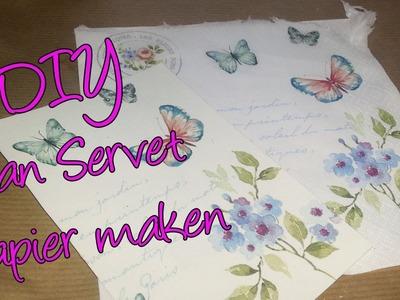 Hoe maak ik van een servet mooi papier? Leuke techniek waar je veel mee kan!