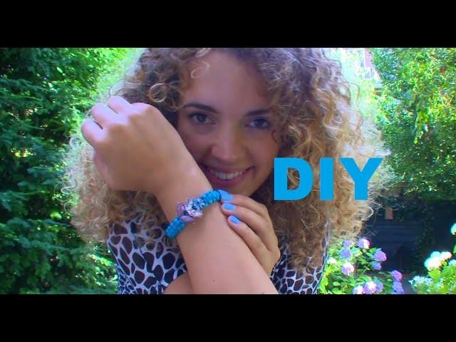 DIY Nederlands:Armbandje van kapotte oorbel en sieradenkoord