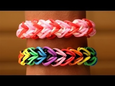 Rainbow Loom Nederlands   Heart Armband    Loom bands, rainbow loom, tutorial, how to