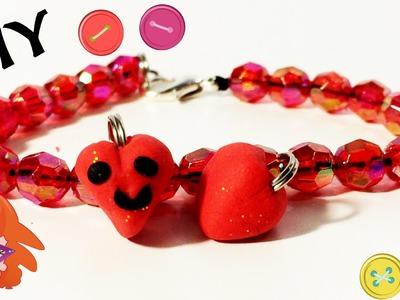 Nederlands DIY charm bracelets hearts - Zelf hartjes bedeltjes maken van Fimo klei