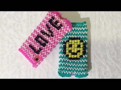 Rainbow Loom Nederlands, Iphone, telefoon. Ipod hoesje met Smiley. Deel 2 (English subtitels)
