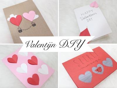 DIY. 5x Valentine cards!