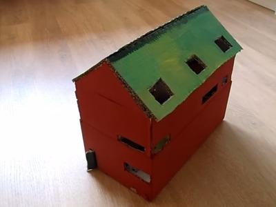 Diy, huis maken van papier.karton