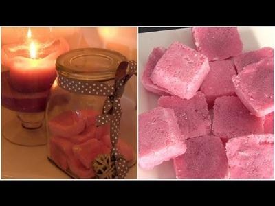DIY suiker scrub blokjes zelf maken