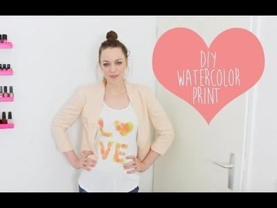 DIY watercolor print voor op t-shirt