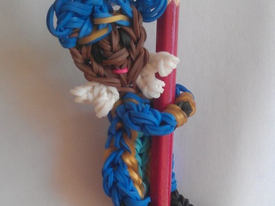 Rainbow loom Nederlands Sinterklaas: Pietje acrobaat pencil hugger (original design)