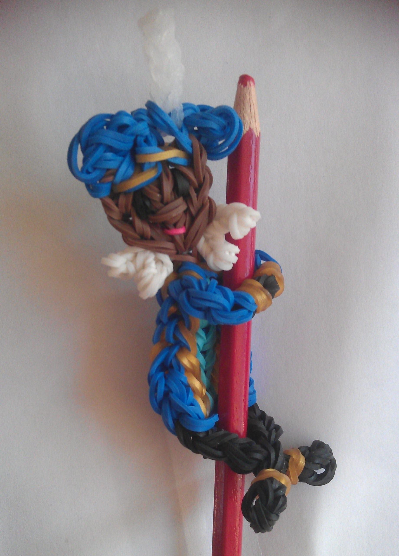 Rainbow loom Nederlands Sinterklaas: Pietje acrobaat pencil hugger (original design)