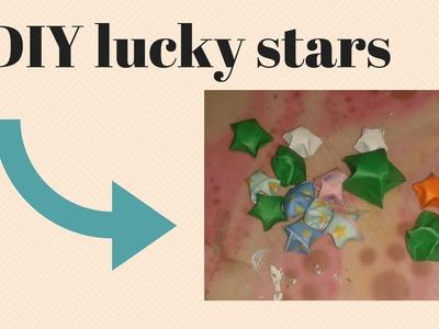 DIY lucky stars vouwen van oud papier