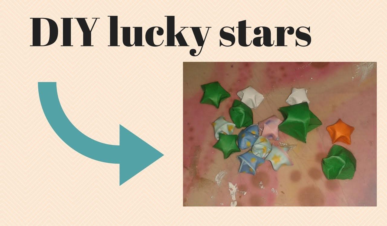 Diy lucky stars vouwen van oud papier for Diy lucky stars