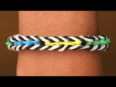 Rainbow Loom Nederlands - Color Split    Loom bands, rainbow loom, tutorial, how to
