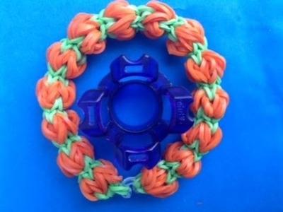 Rainbow Loom Nederlands, Fingerloom review, Pompoen armband