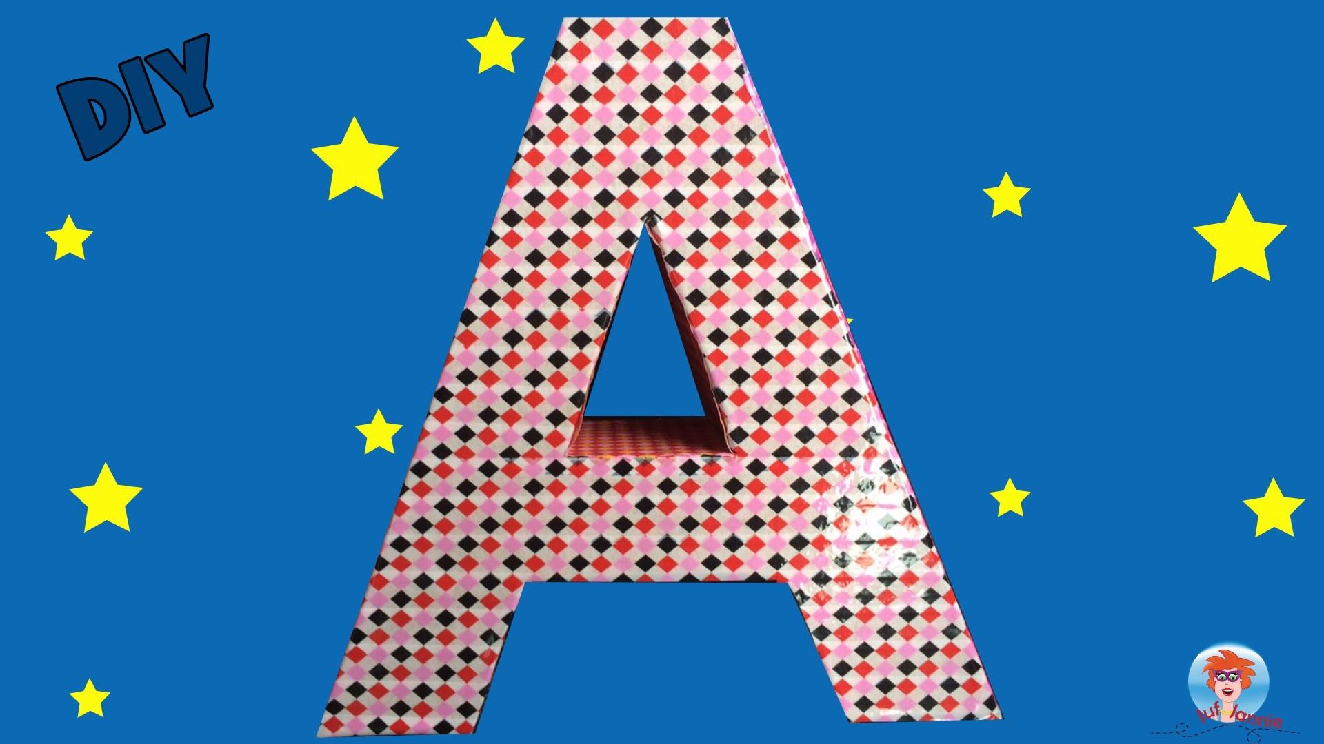 DIY - Letter versieren met tape