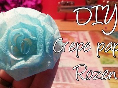 Diy Maak een Crepe papier roos, Rolled ribbon rose