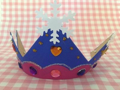 Frozen kroon knutselen op je Frozen kinderfeestje