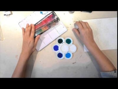 De Craftorij Project Life Tutorial: Embossed Watercolor PL kaartjes