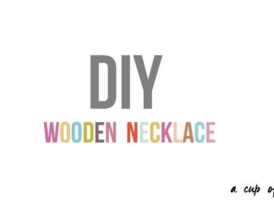 DIY houten ketting