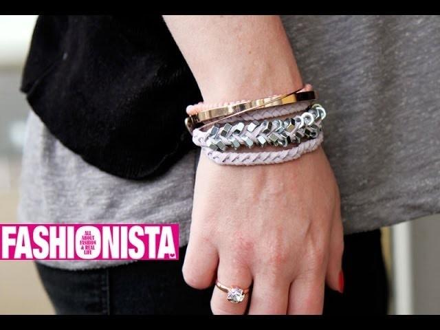 Fashionista DIY - Armband van moertjes