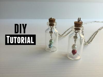 Glazen Flesje - Wish Bottle Ketting Maken Video Tutorial