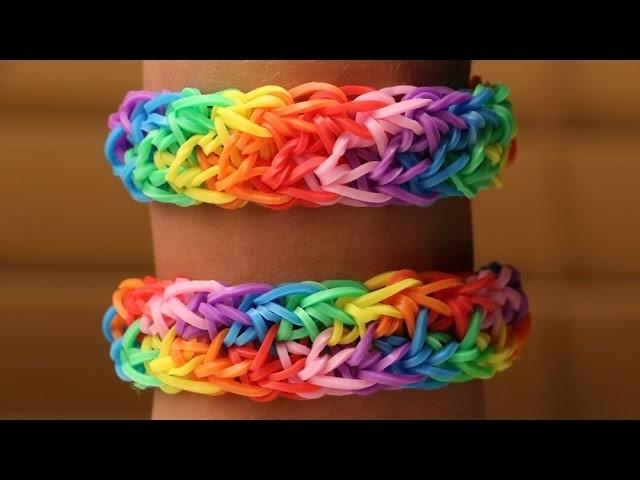 Rainbow Loom Nederlands - Double Rainbow || Loom bands, rainbow loom, tutorial, holiday bracelet