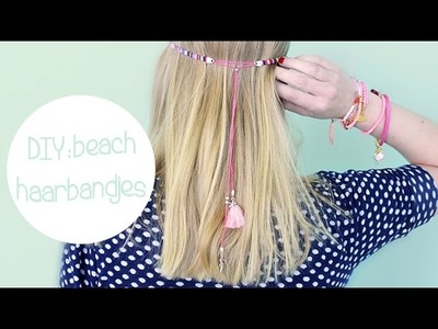 DIY: Beach haarbandjes