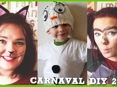 LAST MINUTE Low Budget Diy Carnavals Kostuums 3 x No Sew OLAF, UIL, KAT