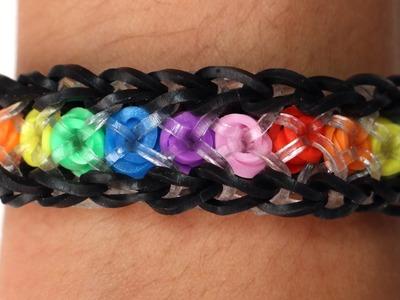 Rainbow Loom Nederlands - Confetti Criss Cross || Loom bands, rainbow loom, tutorial, how to
