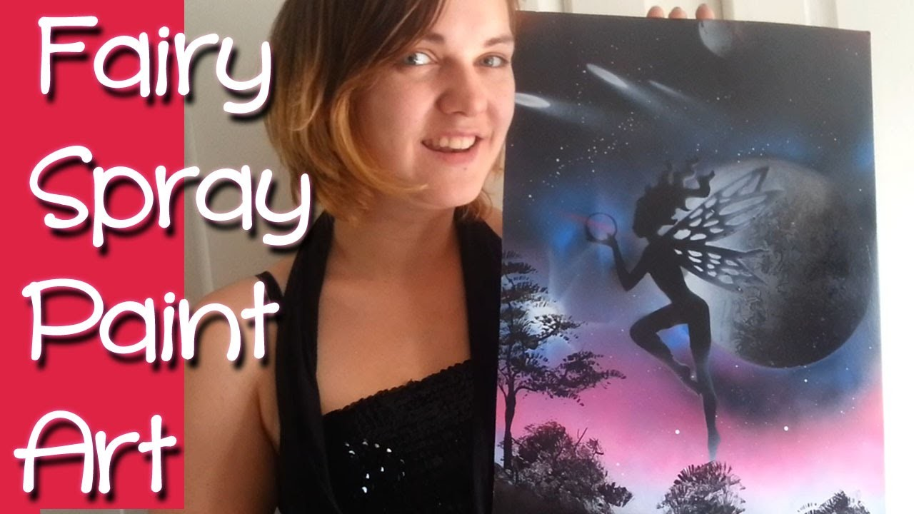 SPRAY ART FAIRY PAINTING~ How I Paint my Pixie Spraypaint Diy