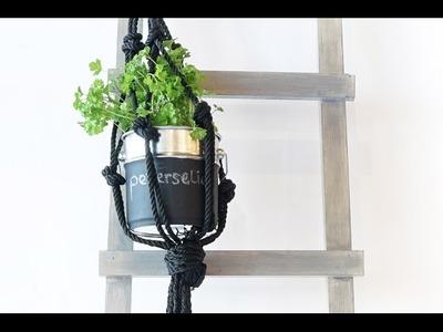 DIY Macramé planthanger