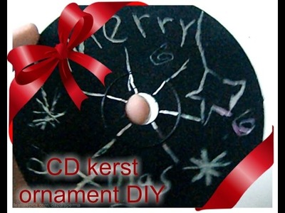 Kerst ornament CD DIY