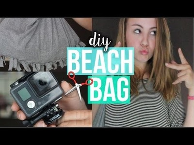DIY Summer Fringe Beach Bag + What's in my bag