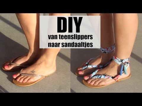 DIY van teenslipper naar sandaaltje
