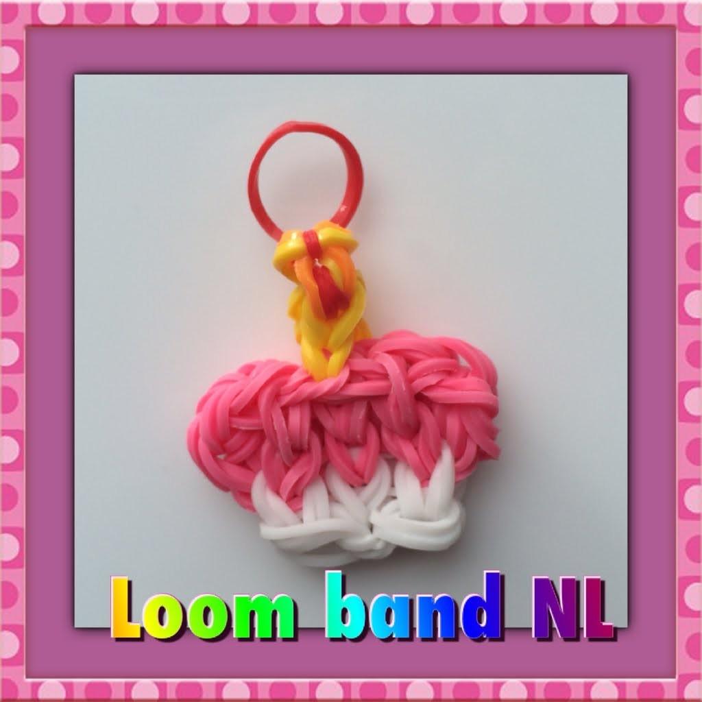Rainbow Loom Nederlands cupcake bedel van elastiekjes