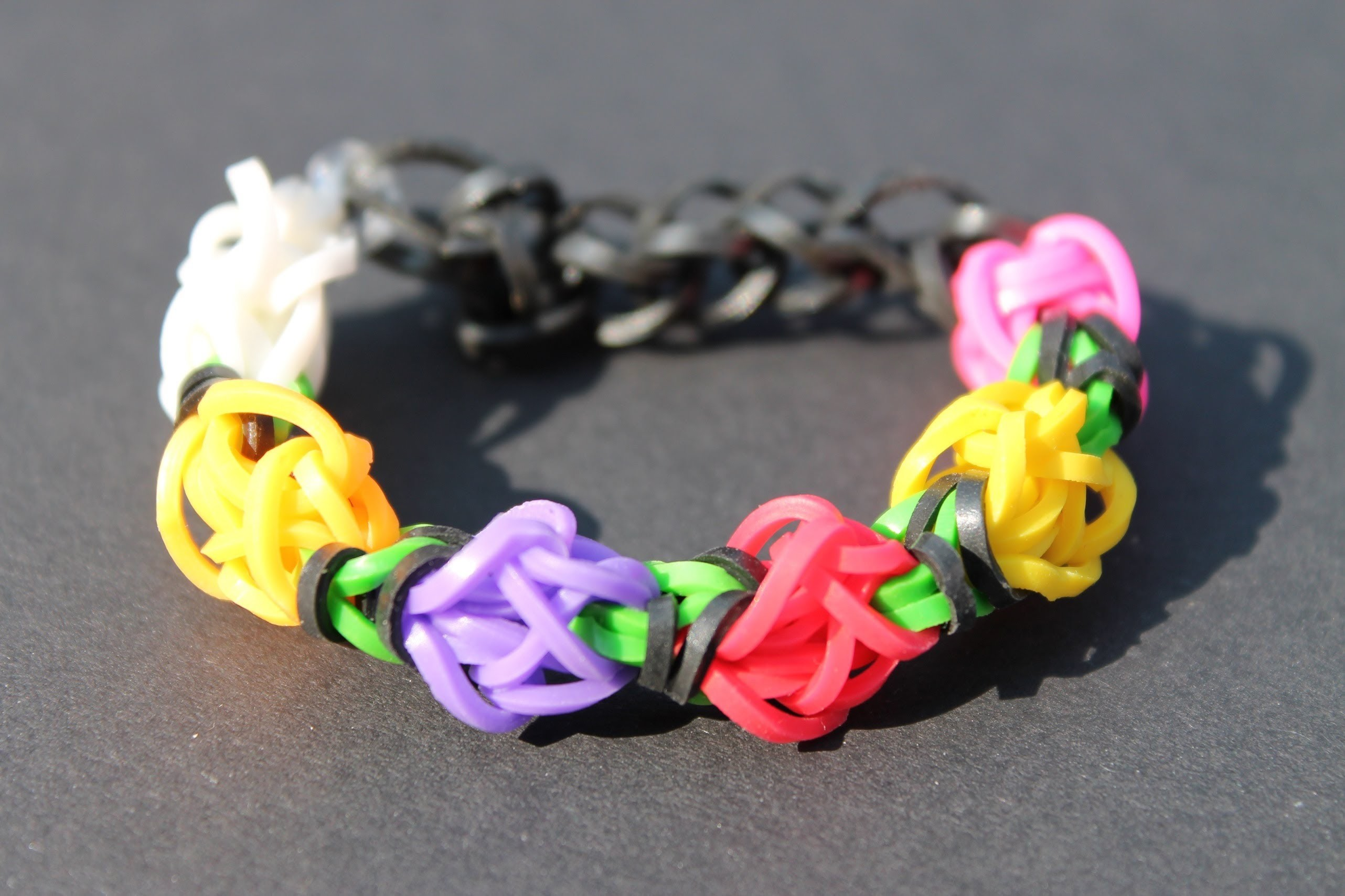 Rainbow Loom Nederlands, Tulip Tower, armband, bracelet